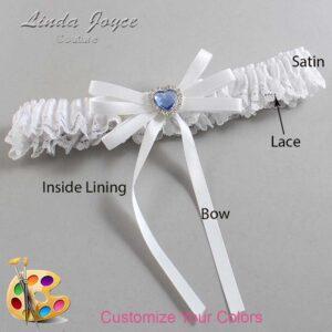 Couture Garters / Custom Wedding Garter / Customizable Wedding Garters / Personalized Wedding Garters / Dora #09-B11-M25 / Wedding Garters / Bridal Garter / Prom Garter / Linda Joyce Couture