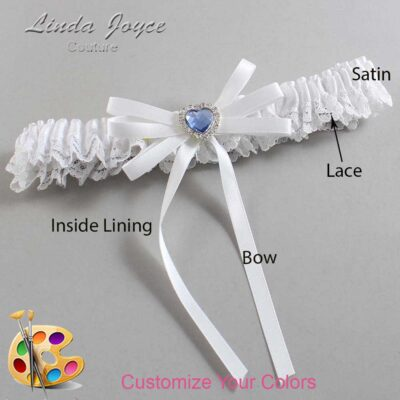 Couture Garters / Custom Wedding Garter / Customizable Wedding Garters / Personalized Wedding Garters / Dora #09-B11-M25 / Wedding Garters / Bridal Garter / Prom Garter / Linda Joyce Couture