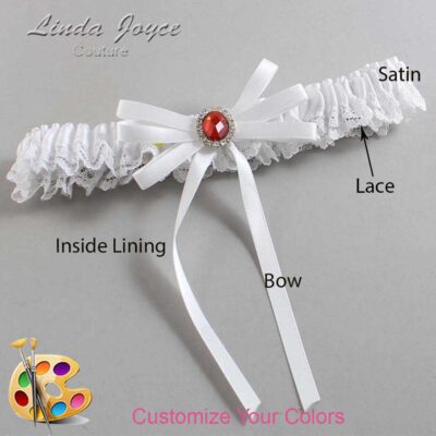 Couture Garters / Custom Wedding Garter / Customizable Wedding Garters / Personalized Wedding Garters / Elissa #09-B11-M26 / Wedding Garters / Bridal Garter / Prom Garter / Linda Joyce Couture