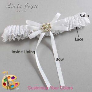 Couture Garters / Custom Wedding Garter / Customizable Wedding Garters / Personalized Wedding Garters / Ellie #09-B11-M27 / Wedding Garters / Bridal Garter / Prom Garter / Linda Joyce Couture