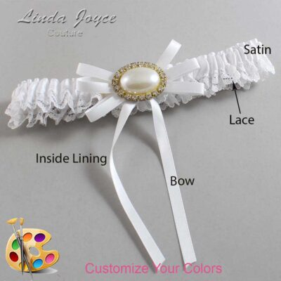Couture Garters / Custom Wedding Garter / Customizable Wedding Garters / Personalized Wedding Garters / Emma #09-B11-M28 / Wedding Garters / Bridal Garter / Prom Garter / Linda Joyce Couture
