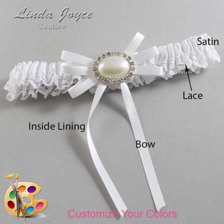 Couture Garters / Custom Wedding Garter / Customizable Wedding Garters / Personalized Wedding Garters / Emma #09-B11-M30 / Wedding Garters / Bridal Garter / Prom Garter / Linda Joyce Couture