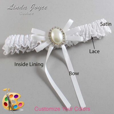 Couture Garters / Custom Wedding Garter / Customizable Wedding Garters / Personalized Wedding Garters / Felina #09-B11-M31 / Wedding Garters / Bridal Garter / Prom Garter / Linda Joyce Couture