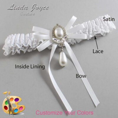 Couture Garters / Custom Wedding Garter / Customizable Wedding Garters / Personalized Wedding Garters / Felicia #09-B11-M32 / Wedding Garters / Bridal Garter / Prom Garter / Linda Joyce Couture