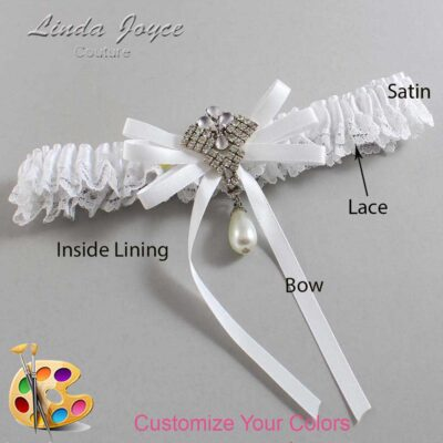 Couture Garters / Custom Wedding Garter / Customizable Wedding Garters / Personalized Wedding Garters / FiFi #09-B11-M33 / Wedding Garters / Bridal Garter / Prom Garter / Linda Joyce Couture