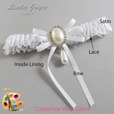 Couture Garters / Custom Wedding Garter / Customizable Wedding Garters / Personalized Wedding Garters / Florence #09-B11-M35 / Wedding Garters / Bridal Garter / Prom Garter / Linda Joyce Couture