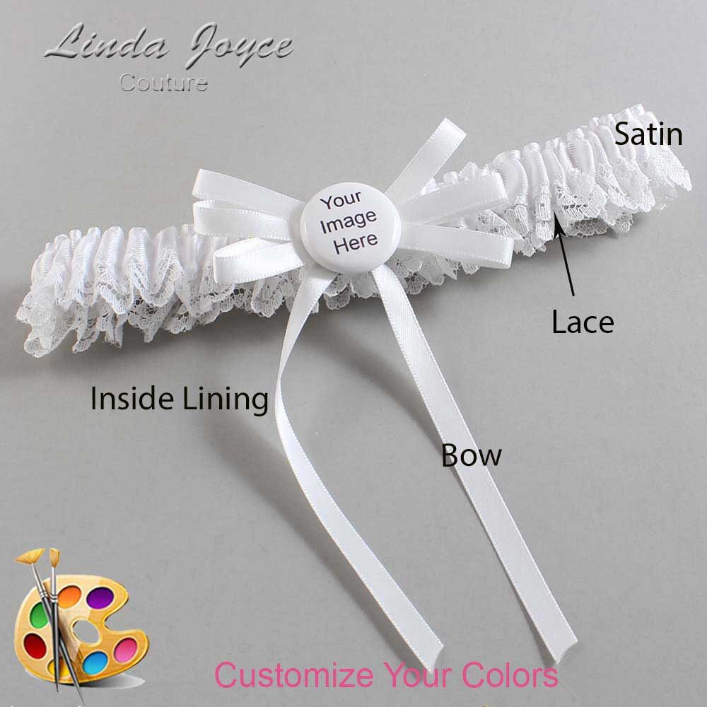 Customizable Wedding Garter / US-Military Custom Button #09-B11-M44