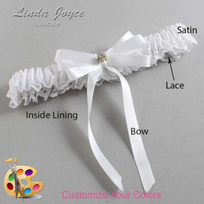 Couture Garters / Custom Wedding Garter / Customizable Wedding Garters / Personalized Wedding Garters / Venessa #09-B12-M03 / Wedding Garters / Bridal Garter / Prom Garter / Linda Joyce Couture