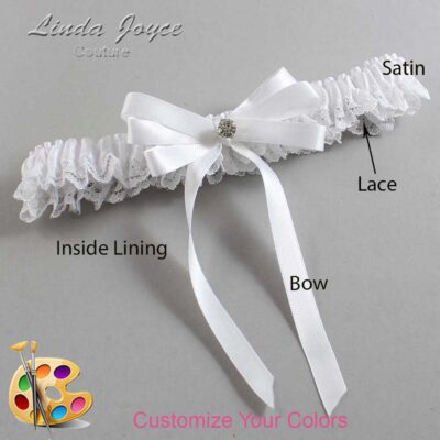 Couture Garters / Custom Wedding Garter / Customizable Wedding Garters / Personalized Wedding Garters / Venessa #09-B12-M04 / Wedding Garters / Bridal Garter / Prom Garter / Linda Joyce Couture
