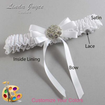 Couture Garters / Custom Wedding Garter / Customizable Wedding Garters / Personalized Wedding Garters / Ashton #09-B12-M11 / Wedding Garters / Bridal Garter / Prom Garter / Linda Joyce Couture