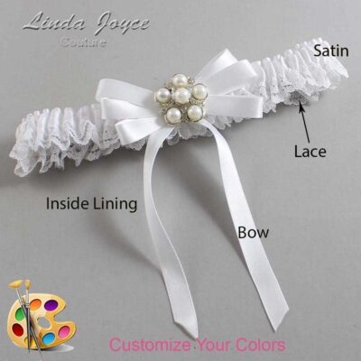 Customizable Wedding Garter / Carmilla #09-B12-M13-Silver
