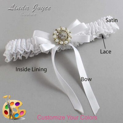 Couture Garters / Custom Wedding Garter / Customizable Wedding Garters / Personalized Wedding Garters / Robin #09-B12-M14 / Wedding Garters / Bridal Garter / Prom Garter / Linda Joyce Couture