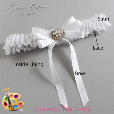 Couture Garters / Custom Wedding Garter / Customizable Wedding Garters / Personalized Wedding Garters / Tanya #09-B12-M16 / Wedding Garters / Bridal Garter / Prom Garter / Linda Joyce Couture