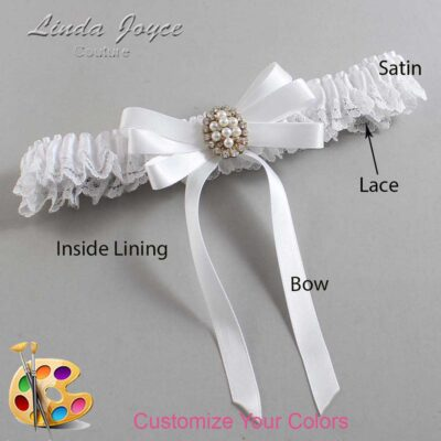 Couture Garters / Custom Wedding Garter / Customizable Wedding Garters / Personalized Wedding Garters / Whitney #09-B12-M17 / Wedding Garters / Bridal Garter / Prom Garter / Linda Joyce Couture
