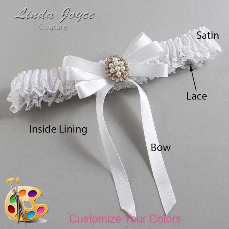 Couture Garters / Custom Wedding Garter / Customizable Wedding Garters / Personalized Wedding Garters / Whitney #09-B12-M17 / Wedding Garters / Bridal Garter / Prom Garter / Linda Joyce Couture