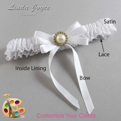 Couture Garters / Custom Wedding Garter / Customizable Wedding Garters / Personalized Wedding Garters / Carol #09-B12-M21 / Wedding Garters / Bridal Garter / Prom Garter / Linda Joyce Couture