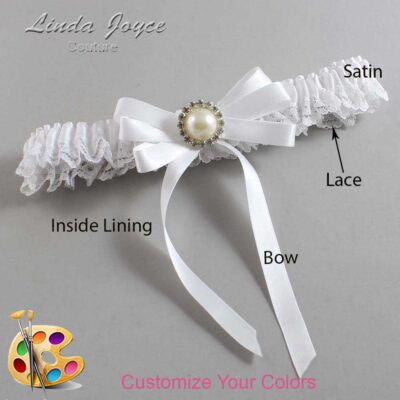 Couture Garters / Custom Wedding Garter / Customizable Wedding Garters / Personalized Wedding Garters / Carol #09-B12-M22 / Wedding Garters / Bridal Garter / Prom Garter / Linda Joyce Couture