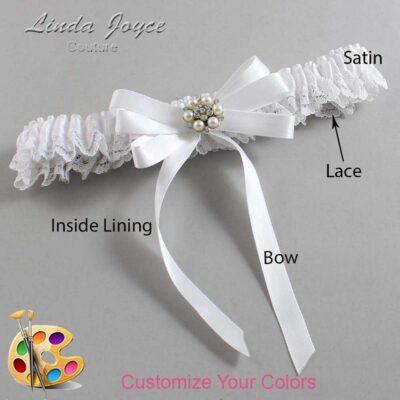 Couture Garters / Custom Wedding Garter / Customizable Wedding Garters / Personalized Wedding Garters / Thelma #09-B12-M23 / Wedding Garters / Bridal Garter / Prom Garter / Linda Joyce Couture