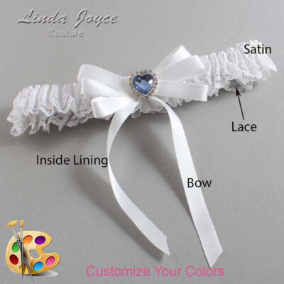 Couture Garters / Custom Wedding Garter / Customizable Wedding Garters / Personalized Wedding Garters / Winnie #09-B12-M25 / Wedding Garters / Bridal Garter / Prom Garter / Linda Joyce Couture