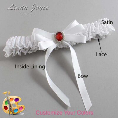 Couture Garters / Custom Wedding Garter / Customizable Wedding Garters / Personalized Wedding Garters / Roxanne #09-B12-M26 / Wedding Garters / Bridal Garter / Prom Garter / Linda Joyce Couture