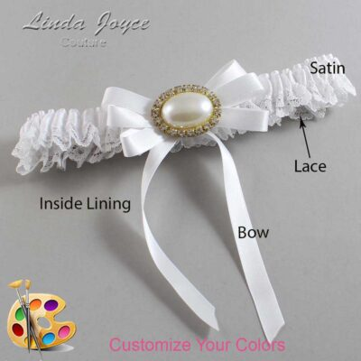 Customizable Wedding Garter / Velma #09-B12-M28-Gold