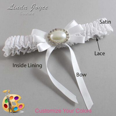 Couture Garters / Custom Wedding Garter / Customizable Wedding Garters / Personalized Wedding Garters / Velma #09-B12-M30 / Wedding Garters / Bridal Garter / Prom Garter / Linda Joyce Couture