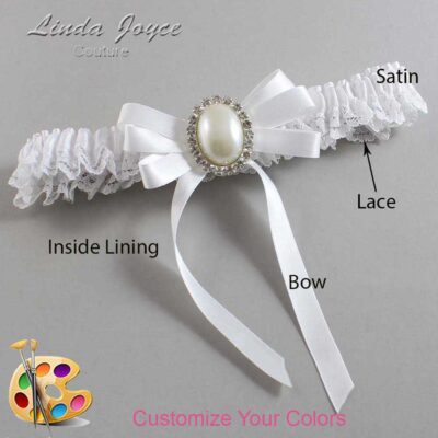 Couture Garters / Custom Wedding Garter / Customizable Wedding Garters / Personalized Wedding Garters / Zoe #09-B12-M31 / Wedding Garters / Bridal Garter / Prom Garter / Linda Joyce Couture
