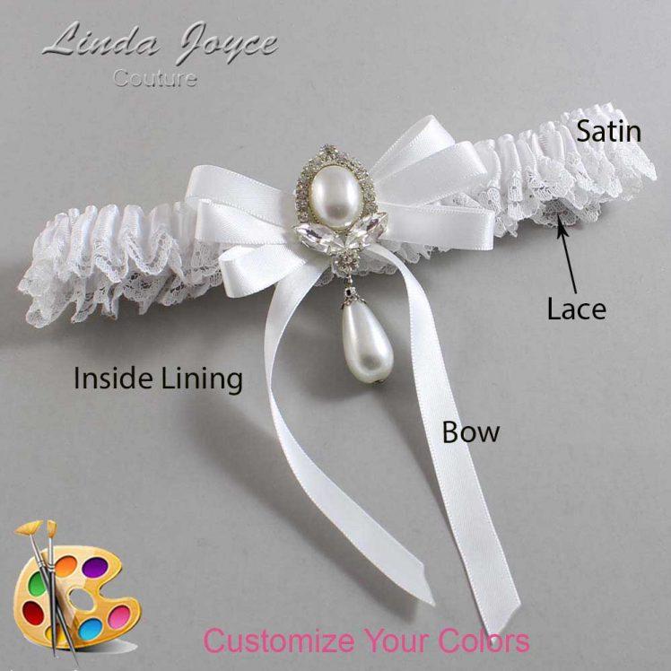 Couture Garters / Custom Wedding Garter / Customizable Wedding Garters / Personalized Wedding Garters / Patsy #09-B12-M32 / Wedding Garters / Bridal Garter / Prom Garter / Linda Joyce Couture