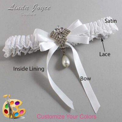 Couture Garters / Custom Wedding Garter / Customizable Wedding Garters / Personalized Wedding Garters / Priscilla #09-B12-M33 / Wedding Garters / Bridal Garter / Prom Garter / Linda Joyce Couture
