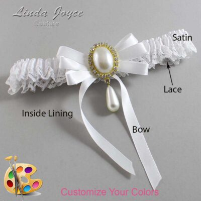 Couture Garters / Custom Wedding Garter / Customizable Wedding Garters / Personalized Wedding Garters / Yvonne #09-B12-M34 / Wedding Garters / Bridal Garter / Prom Garter / Linda Joyce Couture