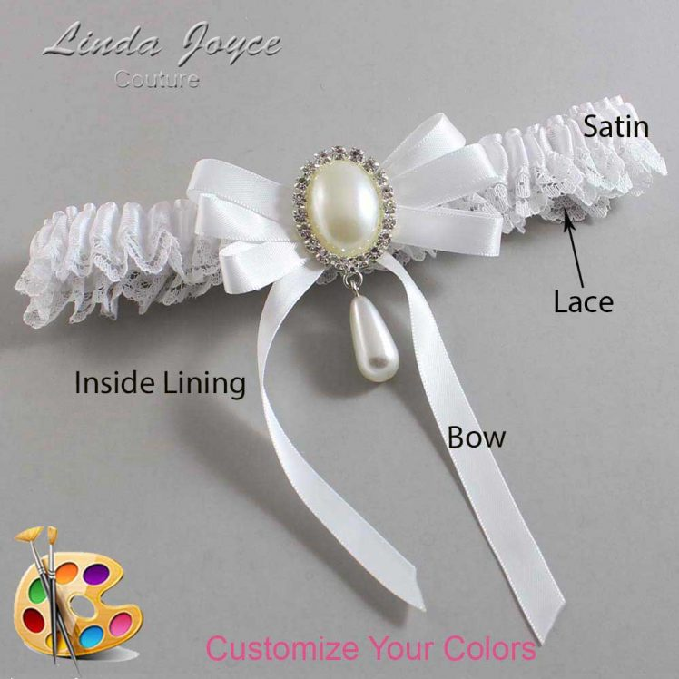 Couture Garters / Custom Wedding Garter / Customizable Wedding Garters / Personalized Wedding Garters / Yvonne #09-B12-M35 / Wedding Garters / Bridal Garter / Prom Garter / Linda Joyce Couture