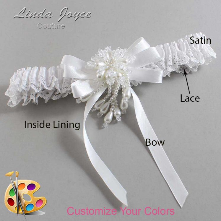 Couture Garters / Custom Wedding Garter / Customizable Wedding Garters / Personalized Wedding Garters / Paula #09-B12-M38 / Wedding Garters / Bridal Garter / Prom Garter / Linda Joyce Couture
