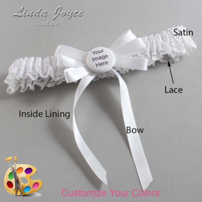 Customizable Wedding Garter / US-Military Custom Button #09-B12-M44