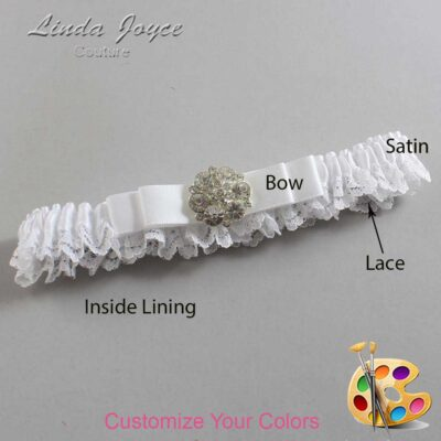 Couture Garters / Custom Wedding Garter / Customizable Wedding Garters / Personalized Wedding Garters / Alexis #09-B20-M11 / Wedding Garters / Bridal Garter / Prom Garter / Linda Joyce Couture