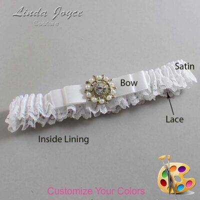 Couture Garters / Custom Wedding Garter / Customizable Wedding Garters / Personalized Wedding Garters / Kelsea #09-B20-M14 / Wedding Garters / Bridal Garter / Prom Garter / Linda Joyce Couture