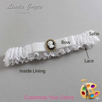 Couture Garters / Custom Wedding Garter / Customizable Wedding Garters / Personalized Wedding Garters / Avery #09-B20-M15 / Wedding Garters / Bridal Garter / Prom Garter / Linda Joyce Couture