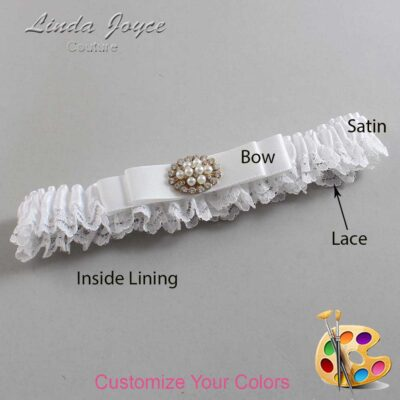 Couture Garters / Custom Wedding Garter / Customizable Wedding Garters / Personalized Wedding Garters / Lily #09-B20-M16 / Wedding Garters / Bridal Garter / Prom Garter / Linda Joyce Couture