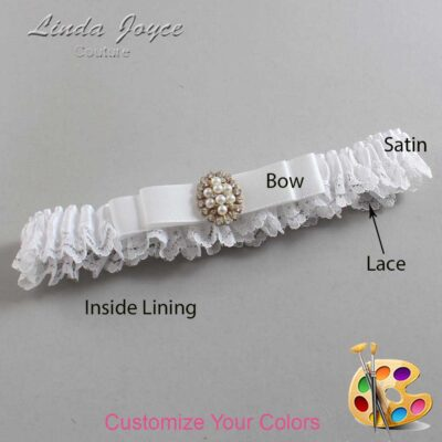 Couture Garters / Custom Wedding Garter / Customizable Wedding Garters / Personalized Wedding Garters / Inga #09-B20-M17 / Wedding Garters / Bridal Garter / Prom Garter / Linda Joyce Couture