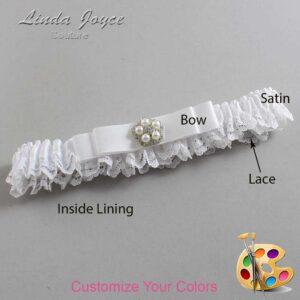 Couture Garters / Custom Wedding Garter / Customizable Wedding Garters / Personalized Wedding Garters / Audrey #09-B20-M20 / Wedding Garters / Bridal Garter / Prom Garter / Linda Joyce Couture
