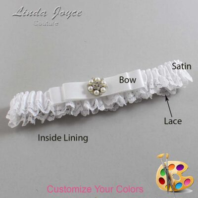 Couture Garters / Custom Wedding Garter / Customizable Wedding Garters / Personalized Wedding Garters / Frances #09-B20-M23 / Wedding Garters / Bridal Garter / Prom Garter / Linda Joyce Couture