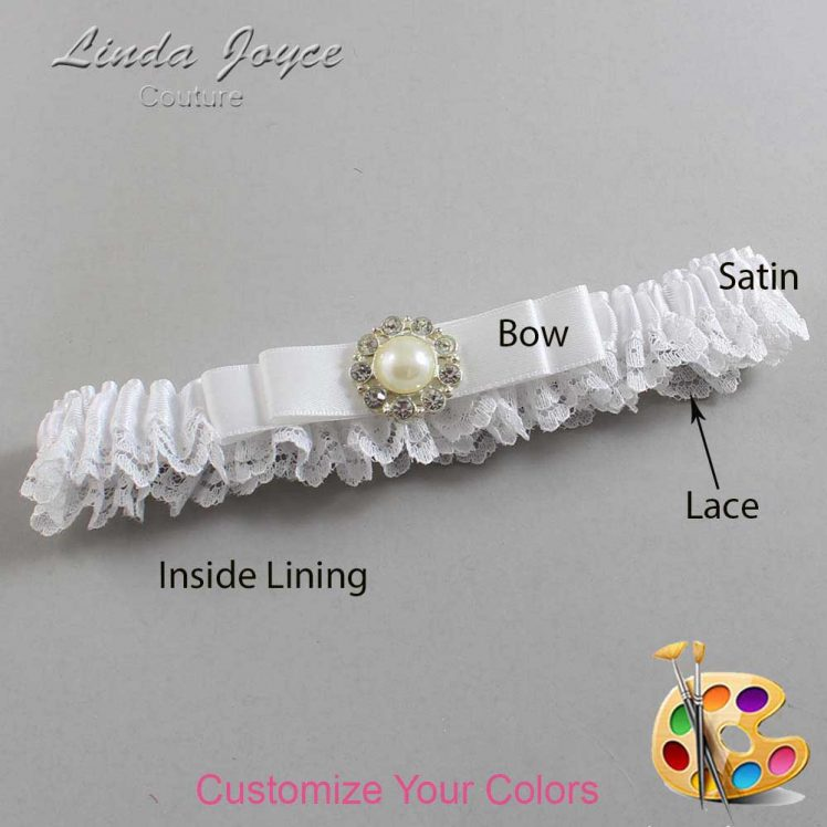 Couture Garters / Custom Wedding Garter / Customizable Wedding Garters / Personalized Wedding Garters / Brianna #09-B20-M24 / Wedding Garters / Bridal Garter / Prom Garter / Linda Joyce Couture