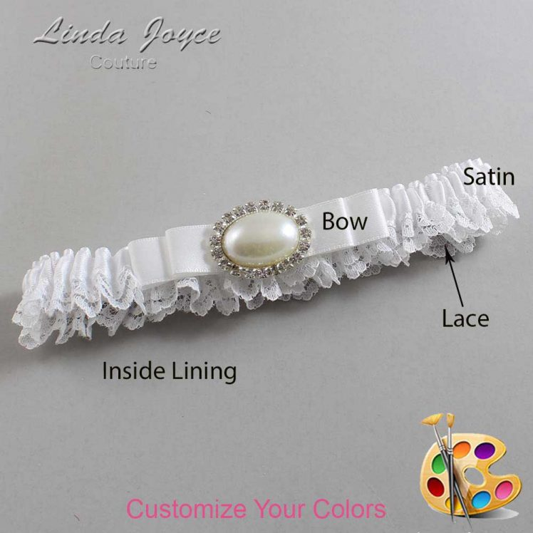 Couture Garters / Custom Wedding Garter / Customizable Wedding Garters / Personalized Wedding Garters / Martha #09-B20-M30 / Wedding Garters / Bridal Garter / Prom Garter / Linda Joyce Couture