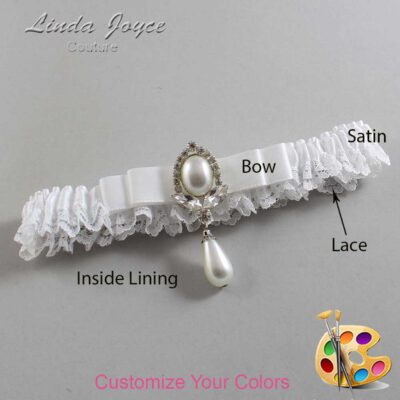 Couture Garters / Custom Wedding Garter / Customizable Wedding Garters / Personalized Wedding Garters / Joyce #09-B20-M32 / Wedding Garters / Bridal Garter / Prom Garter / Linda Joyce Couture