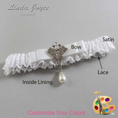 Couture Garters / Custom Wedding Garter / Customizable Wedding Garters / Personalized Wedding Garters / Miranda #09-B20-M33 / Wedding Garters / Bridal Garter / Prom Garter / Linda Joyce Couture