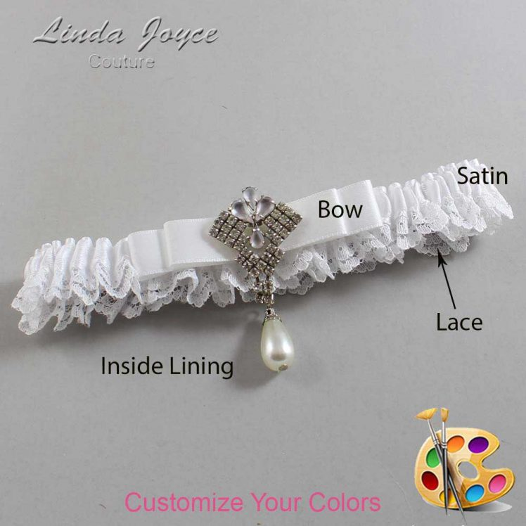 Couture Garters / Custom Wedding Garter / Customizable Wedding Garters / Personalized Wedding Garters / Miranda #09-B20-M33 / Wedding Garters / Bridal Garter / Prom Garter / Linda Joyce Couture