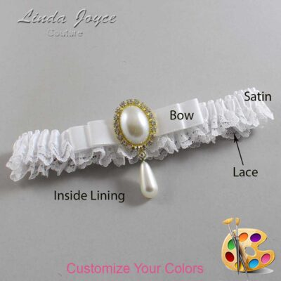 Couture Garters / Custom Wedding Garter / Customizable Wedding Garters / Personalized Wedding Garters / Myra #09-B20-M34 / Wedding Garters / Bridal Garter / Prom Garter / Linda Joyce Couture