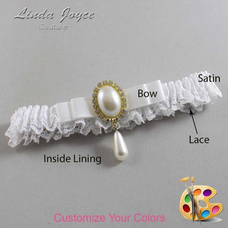 Couture Garters / Custom Wedding Garter / Customizable Wedding Garters / Personalized Wedding Garters / Myra #09-B20-M34 / Wedding Garters / Bridal Garter / Prom Garter / Linda Joyce Couture