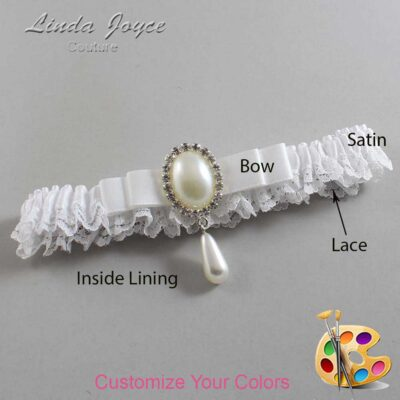 Couture Garters / Custom Wedding Garter / Customizable Wedding Garters / Personalized Wedding Garters / Myra #09-B20-M35 / Wedding Garters / Bridal Garter / Prom Garter / Linda Joyce Couture