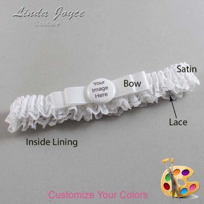Couture Garters / Custom Wedding Garter / Customizable Wedding Garters / Personalized Wedding Garters / Custom Button #09-B20-M44 / Wedding Garters / Bridal Garter / Prom Garter / Linda Joyce Couture
