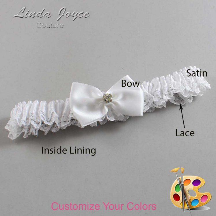 Couture Garters / Custom Wedding Garter / Customizable Wedding Garters / Personalized Wedding Garters / Melba #09-B21-M03 / Wedding Garters / Bridal Garter / Prom Garter / Linda Joyce Couture